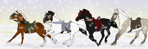 is like snow on the road by ArtworkEquestrian