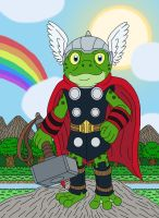 Throg the Thor Frog by MCsaurus