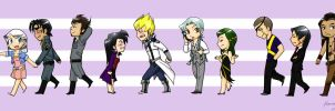 5Ds RP Chibi lineup by heavensong
