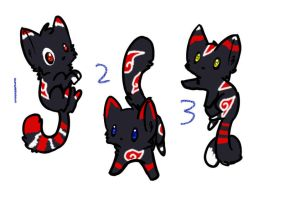 Akatsuki Kitten Adopts 1 CLOSED by KalineReine