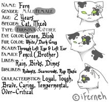 Fern's New Ref Sheet. Yay. by iFerneh