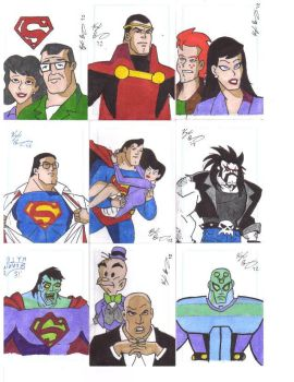 Superman The Animated Series Sketch Card Set by KyleBenning