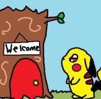 Pika home? by Popcornchickity
