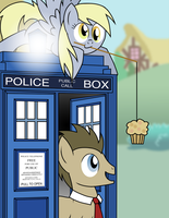 The Doctor and Derpy by Xain-Russell