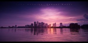 Good Morning, Canary Wharf by geckokid