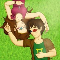 Humanstuck: Feferi and Sollux by Rachael-Starlight