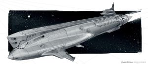 Future Space Adventures - Space Submarine by UrbanMelon