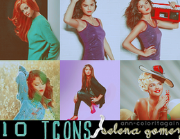 Selena Gomez 100x100 icons by ann-coloritagain