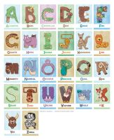 Bendy Zoo Alphabet Cards Individuals by drakeybaby