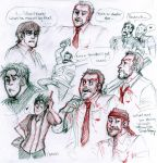 shaun of the dead sketches by zerostop