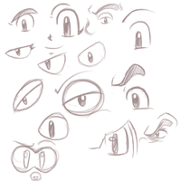 Mega Man eye styles by primalivysaur