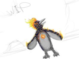 FirePenguin-01 by Demonyoshi