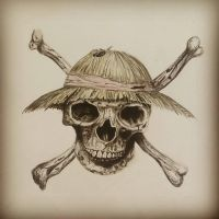 Strawhat Pirates Flag realistic by Resis13