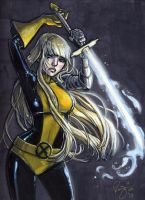 Magik Xmen Color Sketch by RenaeDeLiz
