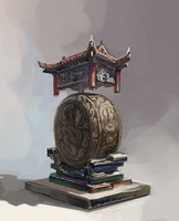 Floating Temple props - Drums by AnDary