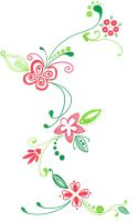 Red and Green tattoo Design by betenik