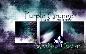 Purple Grunge Icon Textures by spiritcoda