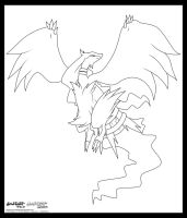 Reshiram. :Lineart: by moxie2D