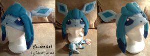Glaceon hat by Neon-Juma