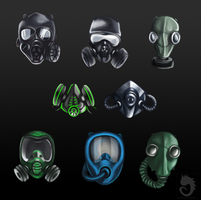 Gas mask icons by FanOfTill