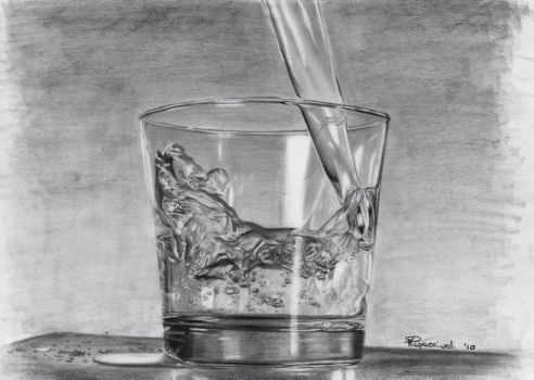 Un bicchier d'acqua. (glass of water) by MariArt91