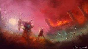 Speed Painting - Eternal Battle by Carlo-Marcelo
