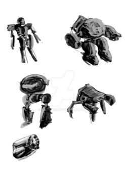 Robots Sketches 1 by andreruz