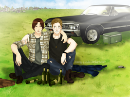 Sam and Dean by Cassy-F-E