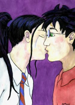 Harry and Cho Kiss. by grammabeth