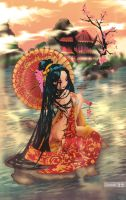 geisha sunset thanks for 5000k by LittlePan