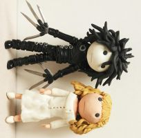 Edward and Kim in clay by TimBurtonFan11