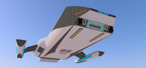 Long Range Shuttle: Sparrow 1 by kaasjager