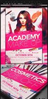 Makeup Course Flyer Template by Marrya92