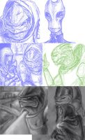 Mass Effect doodle dump by ShadowNight805