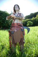 King Arthur cosplay - Guinevere fights by haricovert-cosplay