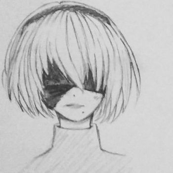 Simple 2B Sketch by RikaValentine