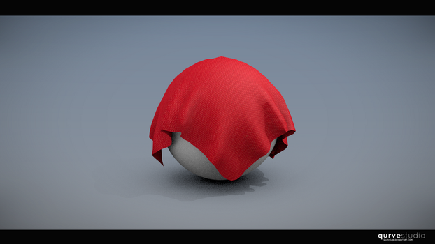 Red Cloth Over Ball by eurekasfray