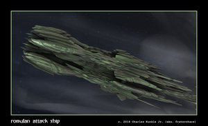 romulan attack ship by fraterchaos