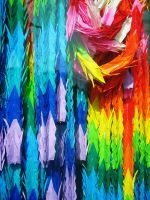 Paper Cranes by belabellissima