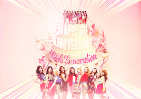 Girls Generation: Happy 5th Anniversary by aethia321