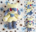 Shiny Riolu Poketime style plush by dolphinwing