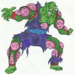 Barefoot Battle Damaged Piccolo Jr. by DBZ2010