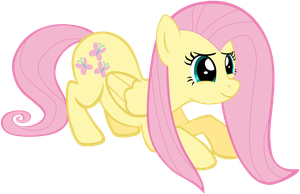 Fluttershy, acting cute! Version 2. by Flutterflyraptor