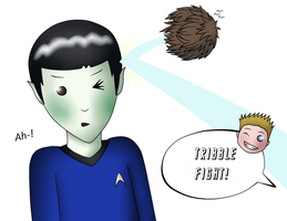 Spock (And Kirk) - TRIBBLE FIGHT! by MSU82