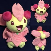 Cherrim Pokemon Custom Plush  by BeeNerdishCrafts