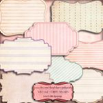 Digital scrapbook frame Vintage Stipe Frame by miabumbag