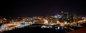 Pittsburgh Skyline at Night,II by SoCallMeNothing