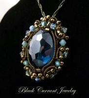 Blue Crystal Pendant by blackcurrantjewelry