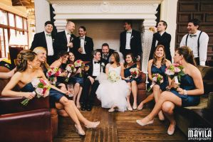 The Wedding Party by MavilaPhotography