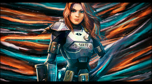 Space Chick by KellyGFX